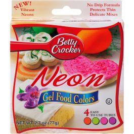 Betty Crocker Gel Icing Food Colors 4/Pkg Neon - BC76010