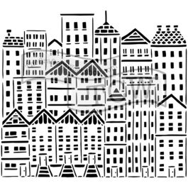 """Crafter'S Workshop Template 12""""X12"""" City Buildings - TCW-729"""