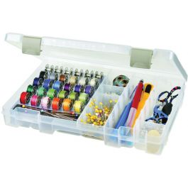 "Artbin Sew Lutions Bobbin & Supply Box 10.75""X7.375""X1.75"" Translucent - 6911AB"