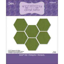 "Westminster/Sizzix Bigz Dies Hexagon 3/4"" Sides - 658316"