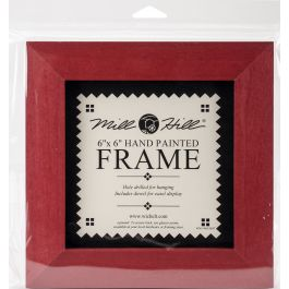 """Mill Hill Wooden Frame 6""""X6"""" Holiday Red - GBFRM-9"""