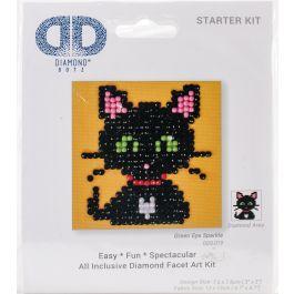 "Diamond Dotz Diamond Embroidery Facet Art Kit 4.75""X4.75"" Green Eye Sparkle - DDS019"