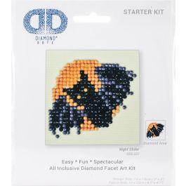"Diamond Dotz Diamond Embroidery Facet Art Kit 4.75""X4.75"" Night Glider - DDS022"