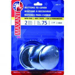 "Maxant Button Cover Button Kit Size 75 1 7/8"" 2/Pkg - ADB1-75"