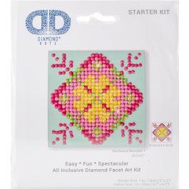 "Diamond Dotz Diamond Embroidery Facet Art Kit 4.75""X4.75"" Patchwork Mandala 1 - DDS027"