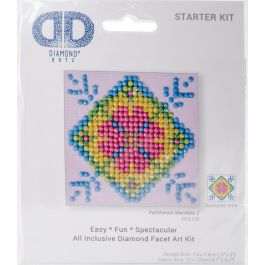 "Diamond Dotz Diamond Embroidery Facet Art Kit 4.75""X4.75"" Patchwork Mandala 2 - DDS028"
