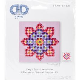"Diamond Dotz Diamond Embroidery Facet Art Kit 4.75""X4.75"" Flower Mandala 2 - DDS030"