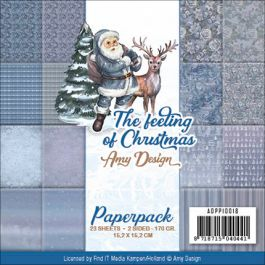 "Find It Trading Amy Design Paper Pack 6""X6"" 23/Pkg The Feeling Of Christmas, Double Sided - APP10018"