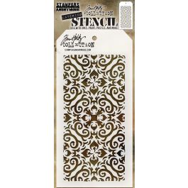 "Tim Holtz Layered Stencil 4.125""X8.5"" Flames - THS-091"