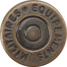 """Dritz No Sew Dungaree Buttons 5/8"""" 4/Pkg Antique Brass - 14124"""