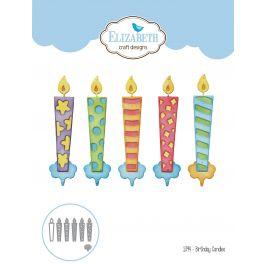 Elizabeth Craft Metal Die Birthday Candles - EC1394