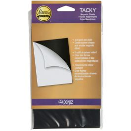 """Aleene'S Magnetic Tacky Sheets 4""""X6"""" 4/Pkg - 31196"""