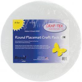 "Bosal Craf Tex Round Place Mat Craft Pack 16"" 4/Pkg - PM3"
