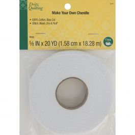 "Dritz Quilting Make It Chenille 5/8"" Wide 20Yd White - DQ3344"