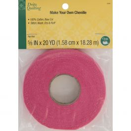 "Dritz Quilting Make It Chenille 5/8"" Wide 20Yd Hot Pink - DQ3346"