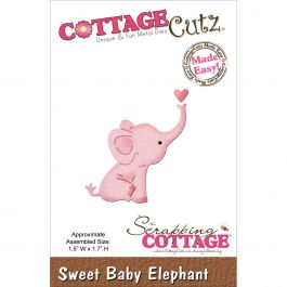 "Cottagecutz Mini Die Sweet Baby Elephant 1.5""X1.7"" - MINI163"