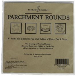 "The Krafty Gourmet Parchment Rounds 24/Pkg White 8"" - KG019"