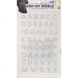 "Dritz Iron On Letters Rhinestud 3/4"" Silver - 2566"