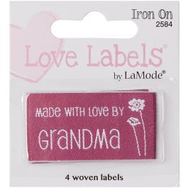 Blumenthal Iron On Lovelabels 4/Pkg Made With Love By Grandma - 2500-2584