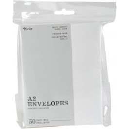 "Heavyweight A2 Envelopes (4.375""X5.75"") 50/Pkg White - ENV45W"