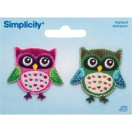 Simplicity Iron On Appliques 2/Pkg Owls - 19303900