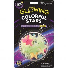 Glow In The Dark Star Packs Colorful Stars 50/Pkg - GLOW-19473