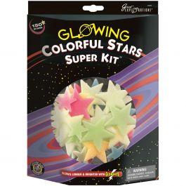 Glowing Stars Super Kits 150/Pkg Colorful Stars - 19492