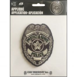 "C&D Visionary Patch Police 2.5""X3"" - P2-4495"