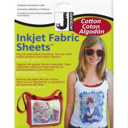 """Printed Treasures Ink Jet Fabric Sheets 8.5""""X11"""" 10/Pkg 100% Cotton Percale - JAC9701"""