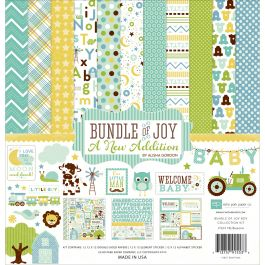"Echo Park Collection Kit 12""X12"" Bundle Of Joy/A New Addition  Baby Boy - BJBT7816"