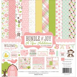 "Echo Park Collection Kit 12""X12"" Bundle Of Joy/A New Addition  Baby Girl - BJGT7916"