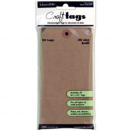 "Inkssentials Kraft Craft Tags 20/Pkg #8, 6.25""X3.125"" - ISC-31864"