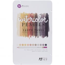 Prima Mixed Media Watercolor Pencils 12/Pkg Earth Tones - WPSET-76738