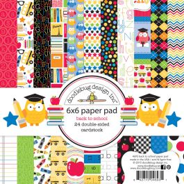 "Doodlebug Double Sided Paper Pad 6""X6"" 24/Pkg School, 12 Designs/2 Each - SCH4698"