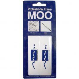 Moo Pvc Erasers 2/Pkg Medium - MOO300DB