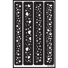 """Over 'N' Over Reusable Stencils 5""""X8"""" Sparkle Borders - GE21-1625"""