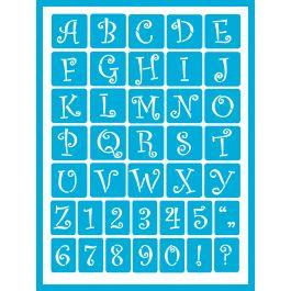 "Americana Gloss Enamel Stencils 8""X6"" Curly Alphabet - AGS-203"