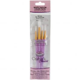 Crafter'S Choice White Taklon Brush Set 4/Pkg - RCC220
