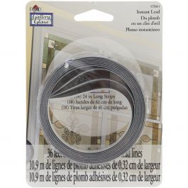 "Gallery Glass Instant Lead Lines 24"" 8/Pkg Black .125"" Thick - 17041"