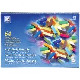 Soft Half Pastels 64/Pkg Assorted Colors - 879