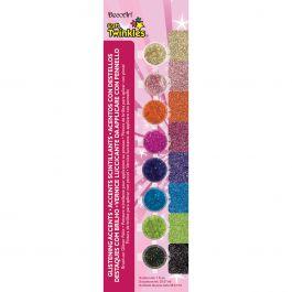 Americana Craft Twinkles Paint Pots 8/Pkg Glistening Accents - DAPK139