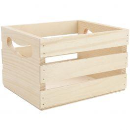 """Walnut Hollow Mini Wooden Crate W/Handles 6.5""""X5.3""""X4.25"""" - 23873"""