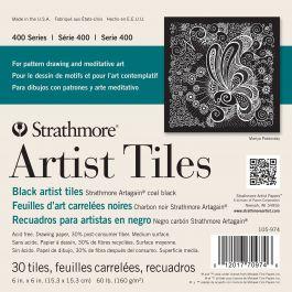 """Strathmore Artist Tiles 6""""X6"""" 30/Pkg Black - 62105974"""