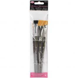 Donna Dewberry Acrylic Brush Set 4/Pkg - DD8140