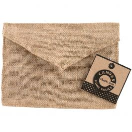 "Burlap Envelope 5""X7"" Natural - CVS3390"