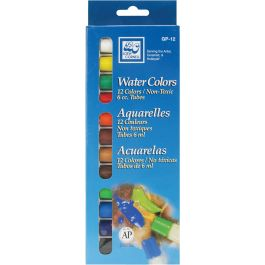 Watercolor Paints 6Ml 12/Pkg Assorted Colors - GP-12