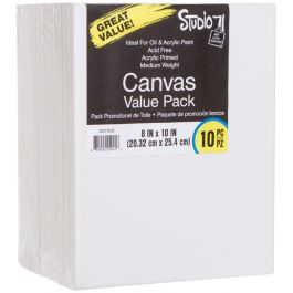 "Studio 71 Stretched Canvas Value Pack 10/Pkg 8""X10"" - 30017638"
