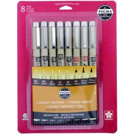Pigma Pens 8/Pkg Sepia - 50048
