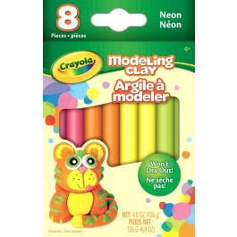 Crayola Modeling Clay .6Oz 8/Pkg Neon - 57-03-13