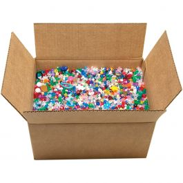 Mixed Plastic Beads 10Lb Assorted Shapes & Sizes - 31674